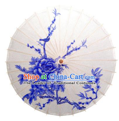 China Traditional Dance Handmade Umbrella Painting Peony Oil-paper Umbrella Stage Performance Props Umbrellas