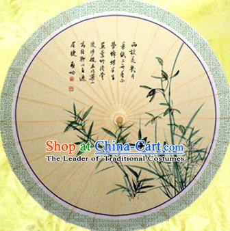 Handmade China Traditional Dance Painting Orchid Butterfly Umbrella Oil-paper Umbrella Stage Performance Props Umbrellas
