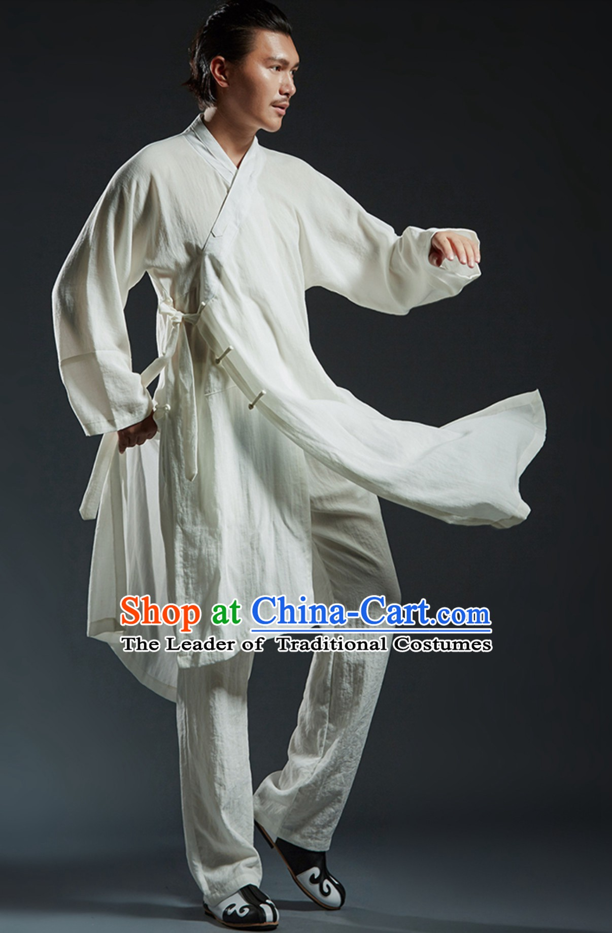 Chinese Classical Tai Chi Wushu Martial Arts Uniform Clothing Complete Set for Men Women Kids
