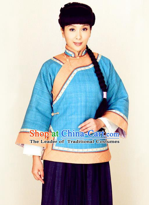 Traditional Chinese Ancient Republic of China Young Mistress Embroidered Xiuhe Suit Clothing for Women