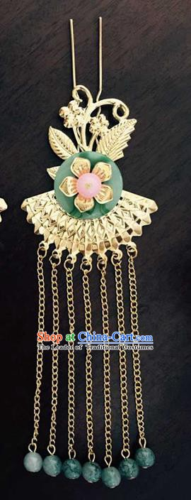 Asian China Handmade Classical Hair Accessories Phoenix Hairpins Tassel Step Shake