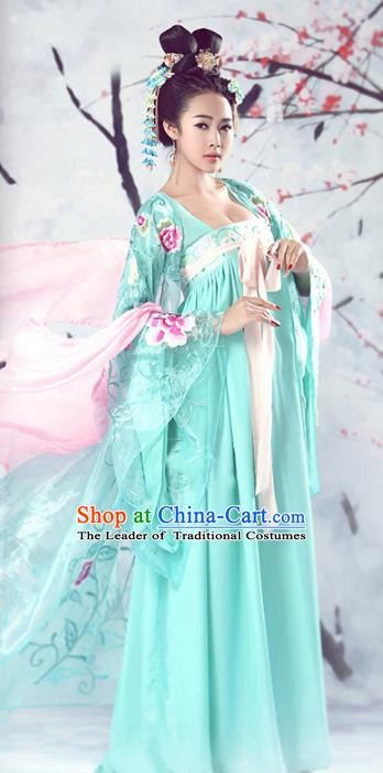 Traditional Chinese Ancient Tang Dynasty Imperial Concubine Embroidered Costume for Women
