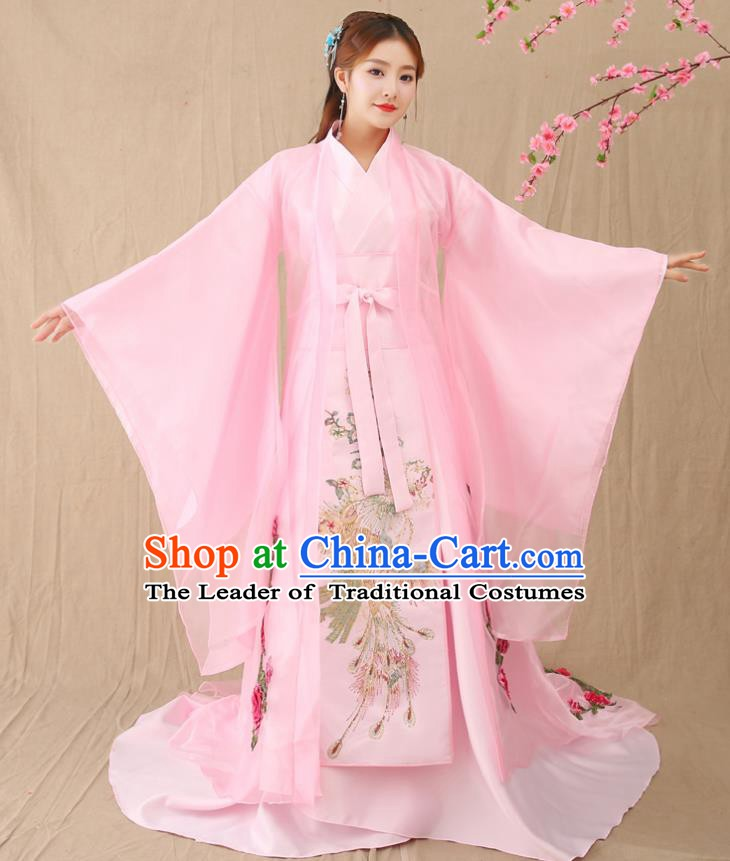 Traditional Chinese Southern and Northern Dynasties Imperial Concubine Costume, China Ancient Palace Lady Hanfu Dress Clothing for Women