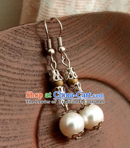 Traditional Handmade Chinese Ancient Princess Accessories Classical Tassel Earrings for Women