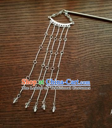 Traditional Handmade Chinese Ancient Classical Hair Accessories Tassel Step Shake Hairpins for Women