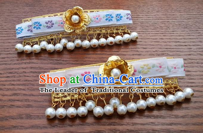 Traditional Handmade Chinese Ancient Classical Hair Accessories Beads Tassel Hair Stick Hairpins for Women