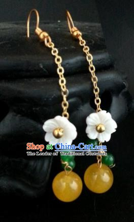Traditional Handmade Chinese Ancient Princess Hanfu Tassel Eardrop Classical Earrings for Women