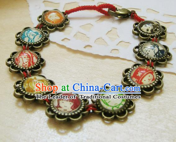 Traditional Handmade Chinese Ancient Classical Accessories Crystal Bracelets for Women
