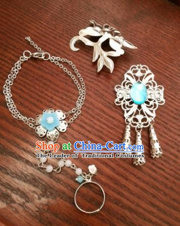 Traditional Handmade Chinese Ancient Classical Hair Accessories Bracelets Hairpins Hair Combs for Women