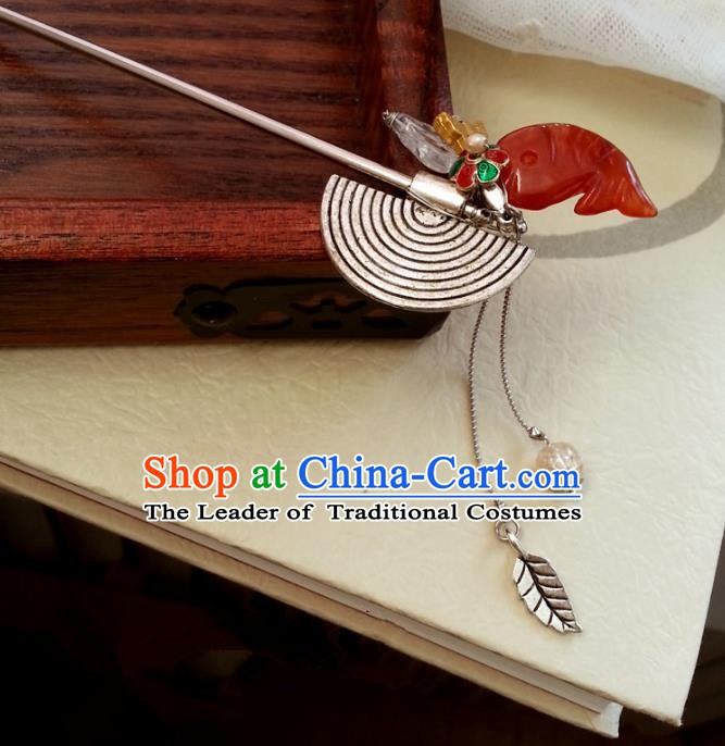 Traditional Handmade Chinese Ancient Classical Hair Accessories Tassel Hairpins for Women