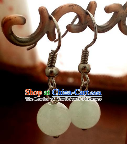 Traditional Chinese Handmade Classical Eardrop Ancient Palace Queen Hanfu Earrings for Women