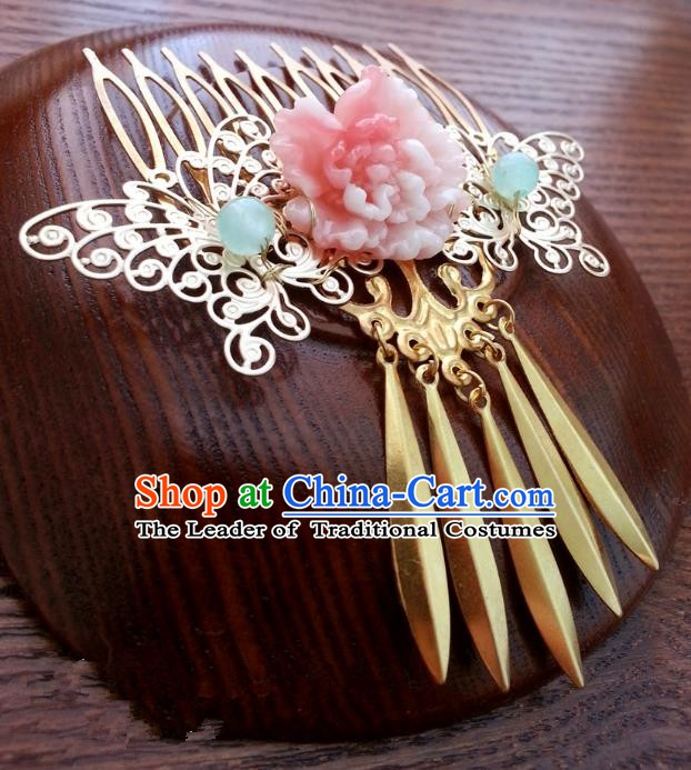 Handmade Traditional Chinese Classical Hair Accessories Ancient Hanfu Hairpins Hair Combs for Women