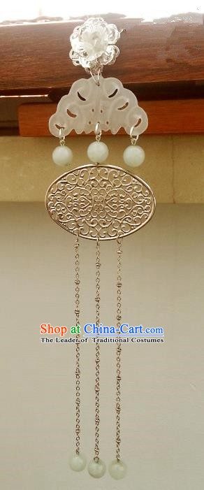 Traditional Handmade Chinese Classical Hair Accessories Ancient Princess Jade Hairpins for Women
