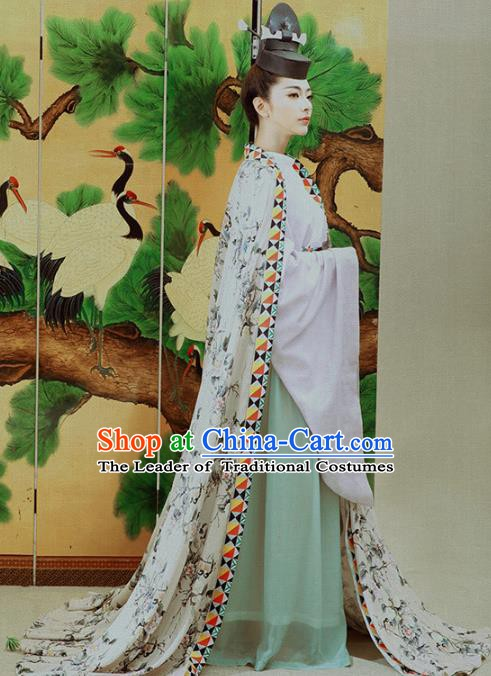 Traditional Chinese Ancient Swordswoman Costume, China Ming Dynasty Invincible Eastern Heroine Clothing and Hat for Women