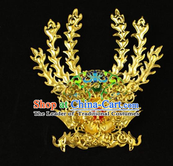 Asian Chinese Handmade Classical Hair Accessories Princess Hairpins Phoenix Coronet for Women