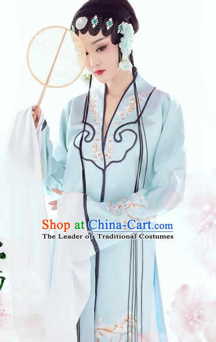 Traditional Chinese Beijing Opera Actress Costume, China Ancient Palace Lady Embroidered Hanfu Clothing