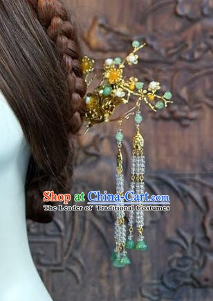 Chinese Handmade Classical Hairpins Hair Accessories Ancient Tassel Step Shake for Women