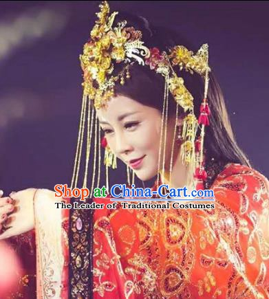 Chinese Ancient Handmade Classical Wedding Hair Accessories Phoenix Coronet Hairpins Bride Headdress for Women