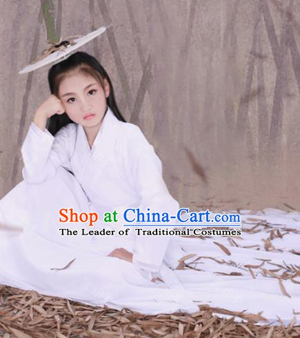Traditional Chinese Ming Dynasty Swordswoman Costume, China Ancient Knight Clothing for Kids