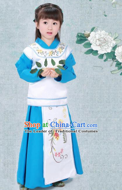 Traditional Chinese Ming Dynasty Nobility Lady Costume, China Ancient Princess Clothing for Kids