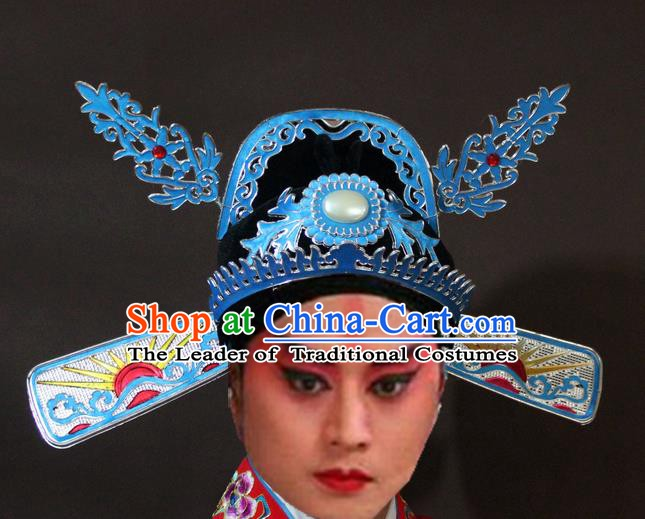 Traditional China Beijing Opera Lang Scholar Hats, Chinese Peking Opera Niche Headwear