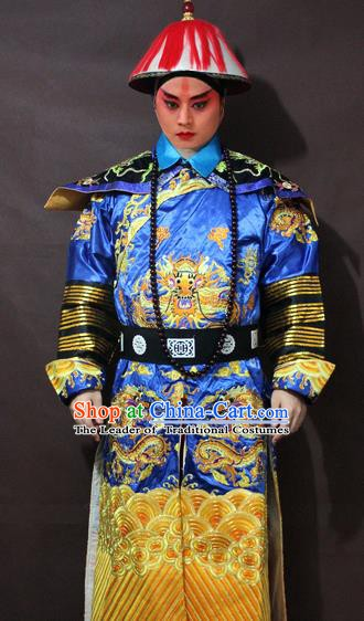 Traditional China Beijing Opera Minister Costume Embroidered Robe, Chinese Peking Opera Qing Dynasty Prince Embroidery Gwanbok Clothing