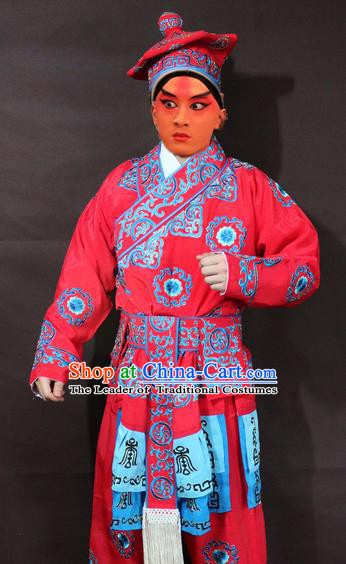 Traditional China Beijing Opera Takefu Embroidered Costume, Chinese Peking Opera Runners Clothing