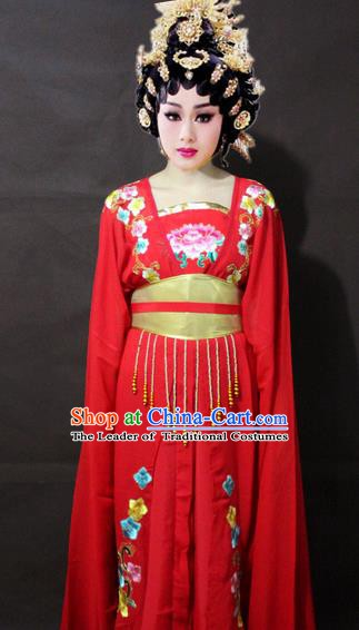 Traditional China Beijing Opera Imperial Concubine Embroidered Costume, Chinese Peking Opera Actress Embroidery Clothing