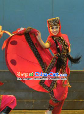 Chinese Traditional Kazak Nationality Costume Kazakh Folk Dance Ethnic Clothing for Women