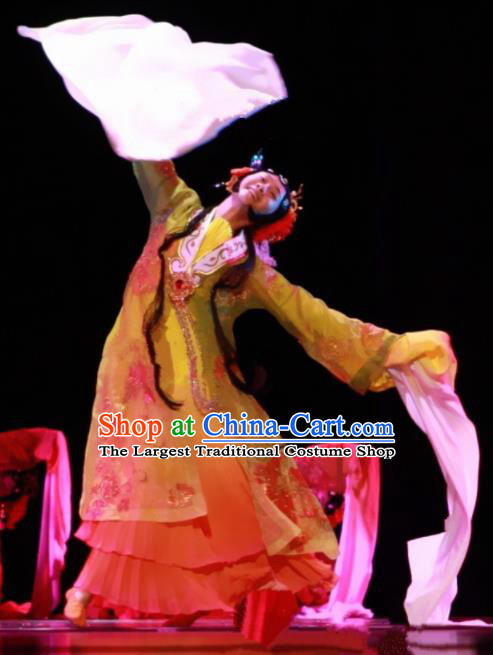 Chinese Traditional Classical Dance Costume Beijing Opera Folk Dance Water Sleeve Dress for Women