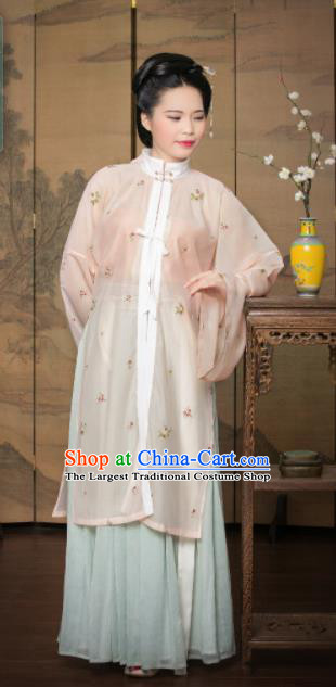 Traditional Chinese Ming Dynasty Nobility Lady Hanfu Dress Ancient Countess Costumes for Women