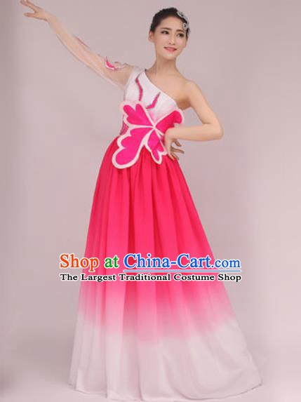 Professional Modern Dance Pink Dress Opening Dance Stage Performance Chorus Costume for Women