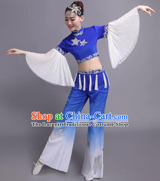 Chinese Traditional Classical Dance Yangko Costume Fan Dance Folk Dance Dress for Women