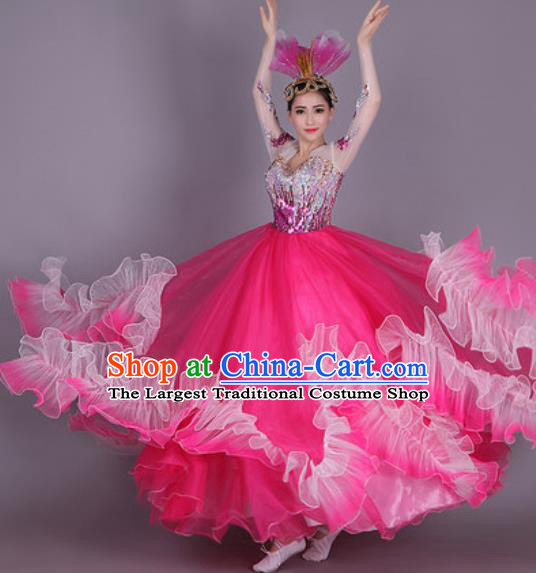 Professional Modern Dance Dress Opening Dance Stage Performance Chorus Costume for Women