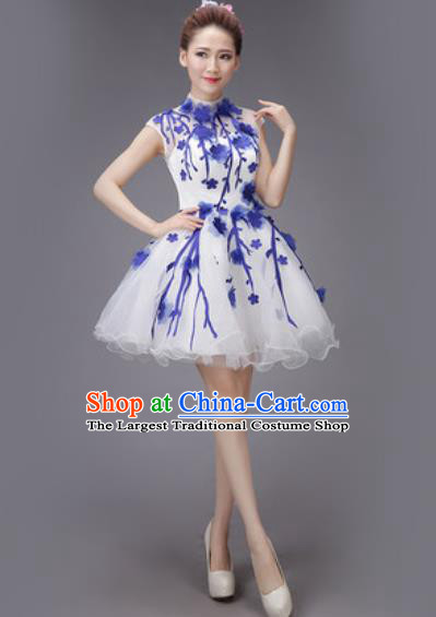 Professional Modern Dance Compere Bubble Dress Opening Dance Stage Performance Costume for Women