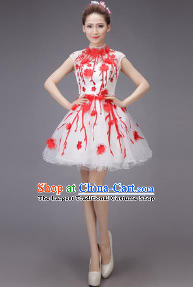 Professional Modern Dance Chorus Bubble Dress Opening Dance Stage Performance Costume for Women