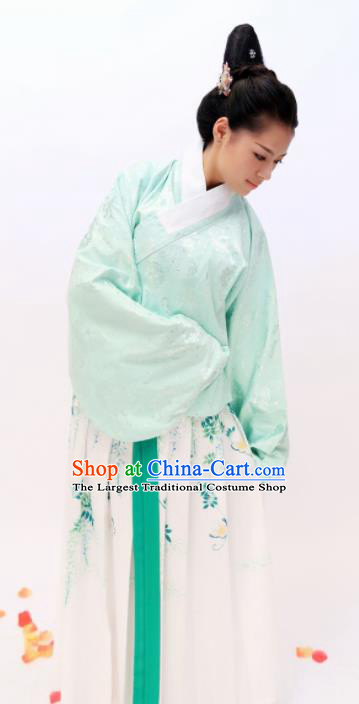 Chinese Traditional Ancient Costumes Ming Dynasty Young Lady Hanfu Dress for Women