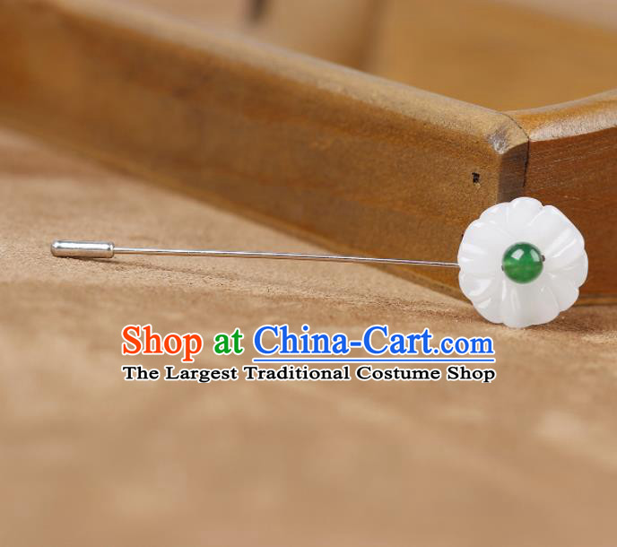 Chinese Ancient Hanfu Jewelry Accessories Traditional Cheongsam White Brooch for Women
