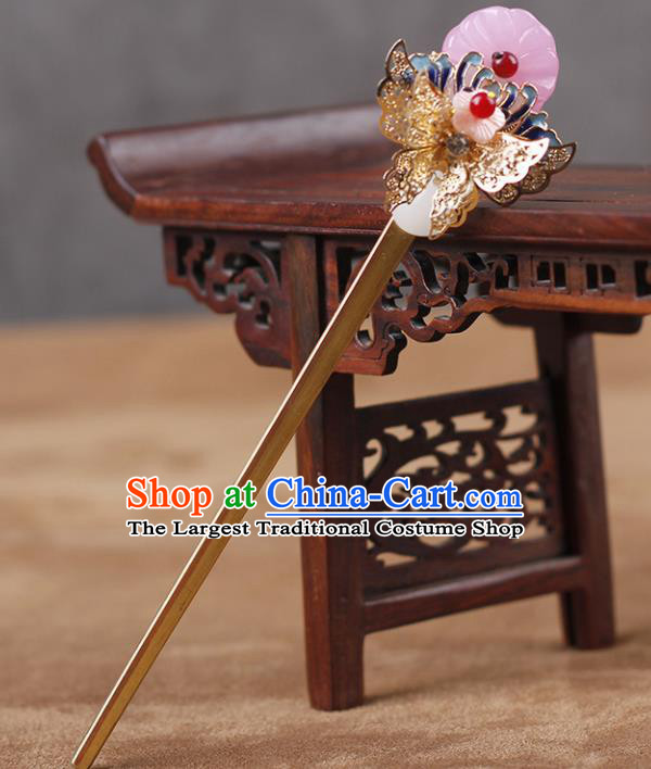 Chinese Ancient Hanfu Hair Accessories Traditional Cloisonne Butterfly Hairpins for Women