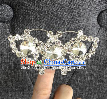 Chinese Traditional Peking Opera Diva Crystal Butterfly Brooch Jewelry Accessories Ancient Princess Breastpin for Women