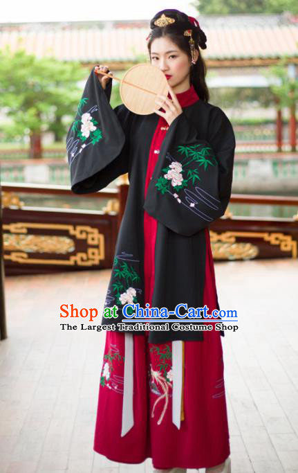 Ancient Chinese Ming Dynasty Palace Lady Costumes Hanfu Dress for Rich