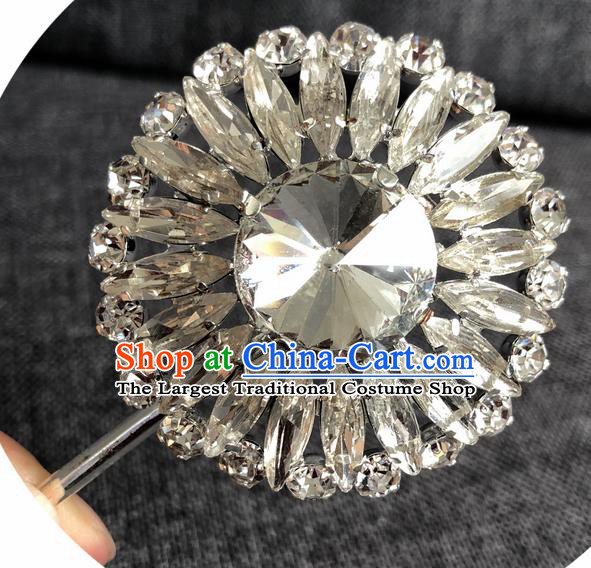 Chinese Ancient Princess Crystal Hairpins Traditional Peking Opera Diva Hair Accessories for Women