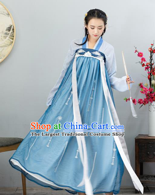 Ancient Chinese Tang Dynasty Historical Costumes Nobility Lady Hanfu Dress for Women