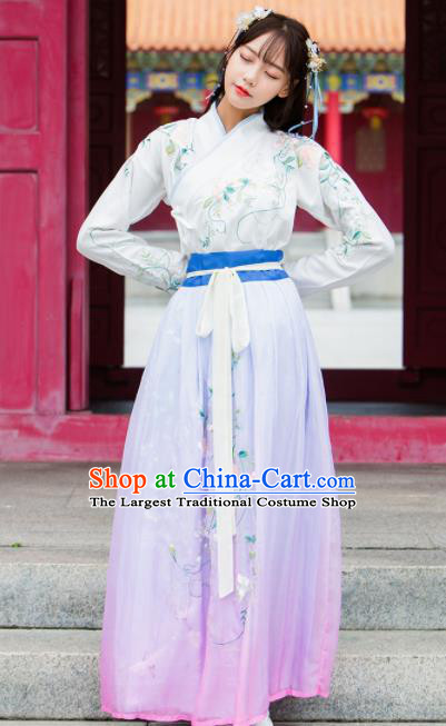 Ancient Chinese Ming Dynasty Historical Costumes Nobility Lady Hanfu Dress for Women
