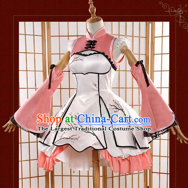 Chinese Traditional Cosplay Female Knight Costumes Ancient Swordswoman Qipao Dress for Women