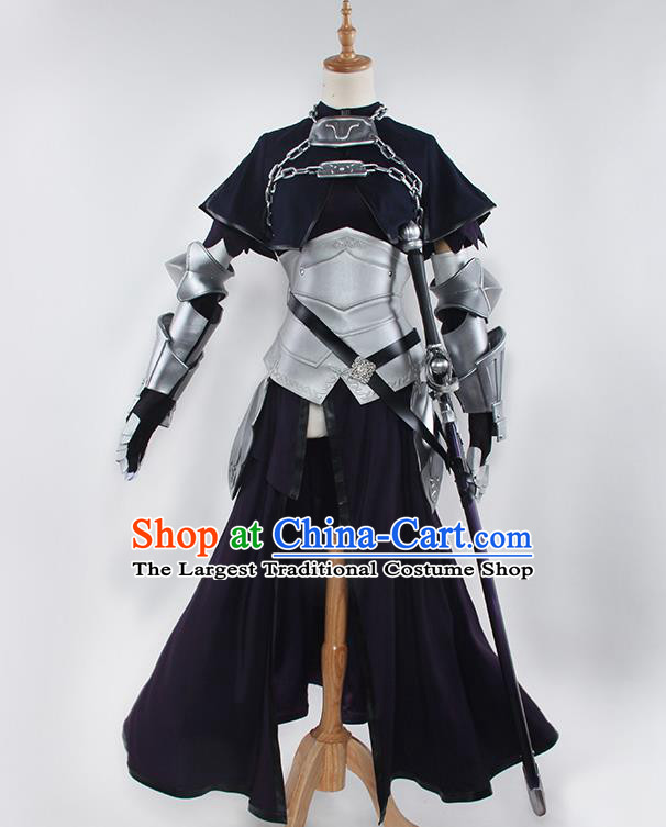 Chinese Traditional Cosplay Swordsman Costumes Ancient Knight Clothing for Women