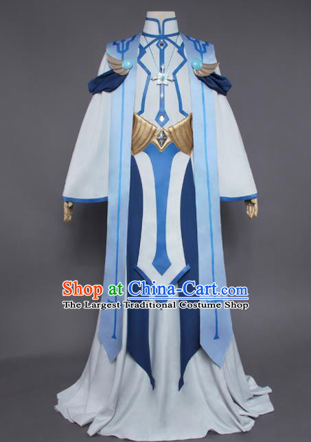Chinese Traditional Cosplay Swordsman Armor Costumes Ancient Nobility Childe Clothing for Men
