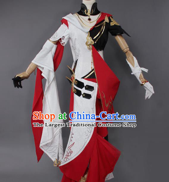 Chinese Traditional Cosplay Kung Fu Instructor Costumes Ancient Swordswoman Clothing for Women
