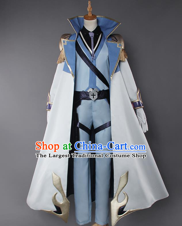 Chinese Traditional Cosplay Swordsman Armour Costumes Ancient Knight Clothing for Men