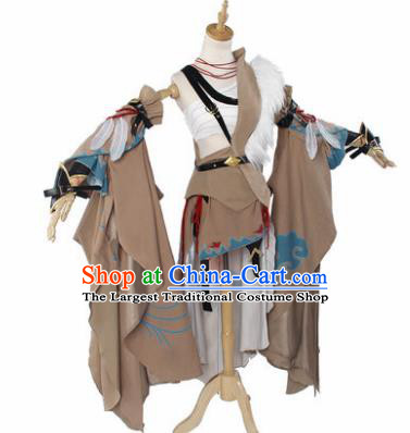 Top Grade Cosplay Princess Costumes Chinese Ancient Swordswoman Dress for Women